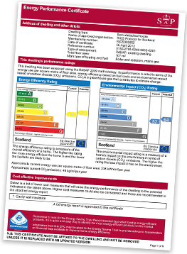 Energy certificate example